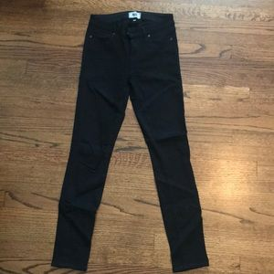 Paige verdugo ultra skinny black jeans size 26